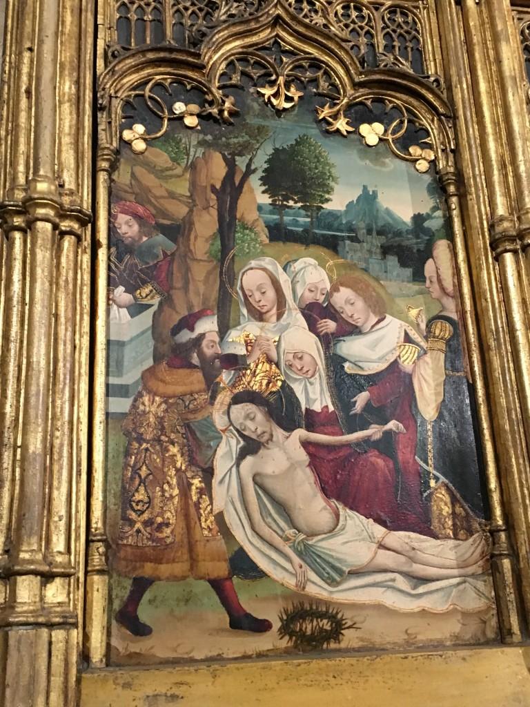Detalle del retablo de Santo Tomás