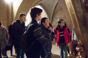 Observando la iglesia de San Martín de Unx